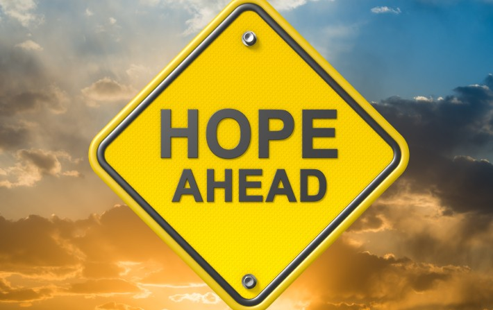 #666 (hope ahead sign)